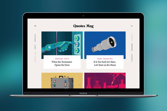 Quotes Magazine: A Digital Magazine Design