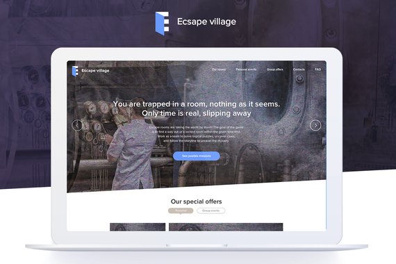Escape Rooms — Branding and Site