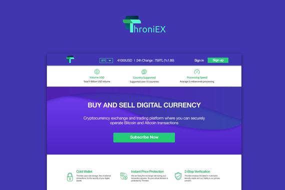 Throniex Cryptocurrency Exchange Market