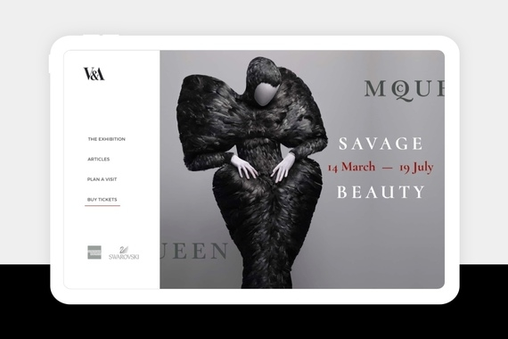 Museum Exhibition's Microsite for V&A