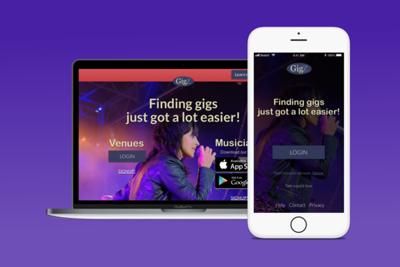 GigZ App for Performing Musicians and Venues