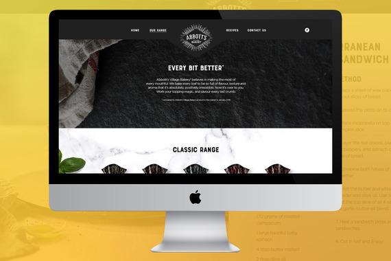 Abbott's Village Bakery Website Reskin
