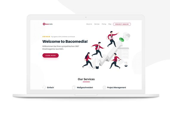 Bacomedia - Landing Page