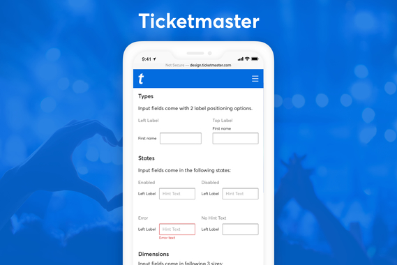 Ticketmaster - Component Usage Guidelines