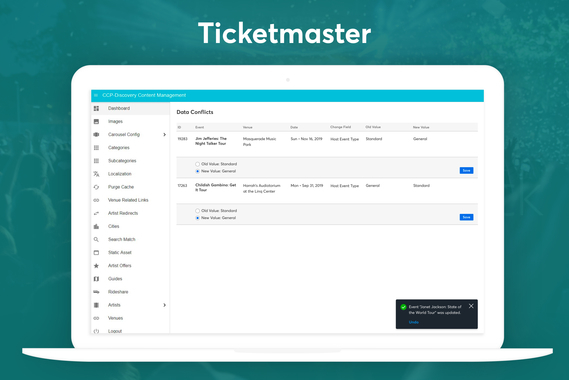 Ticketmaster - Comparison Table
