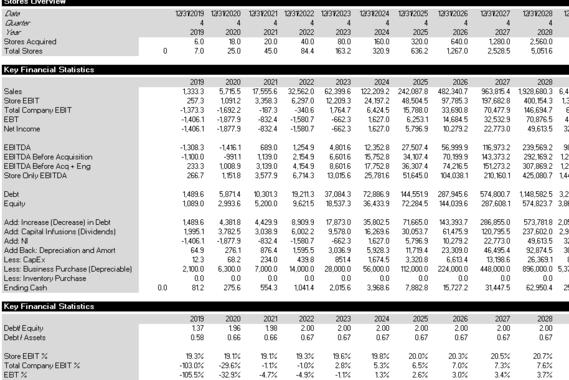 Dynamic Expansion Cash Flow Model