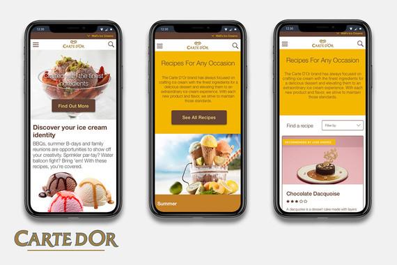Carte D'or Responsive Website Redesign
