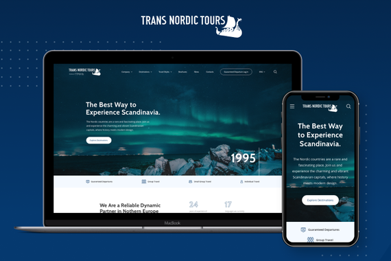 Website Design and Branding for a B2B Travel Agency