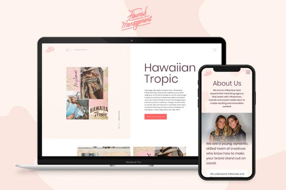 Website Design for an Influencer Management Agency