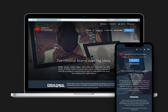 Adobe for Business Responsive Website