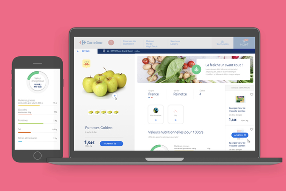 Carrefour Hypermarkets - Service Design, Web, and App