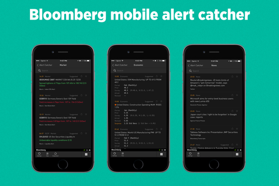 Bloomberg Mobile Alert Catcher