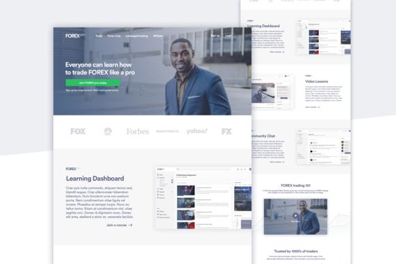 FOREX Pro - Edtech Platform Landing Page