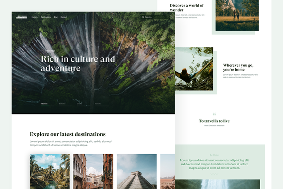 Travel Site | Web Design and Branding