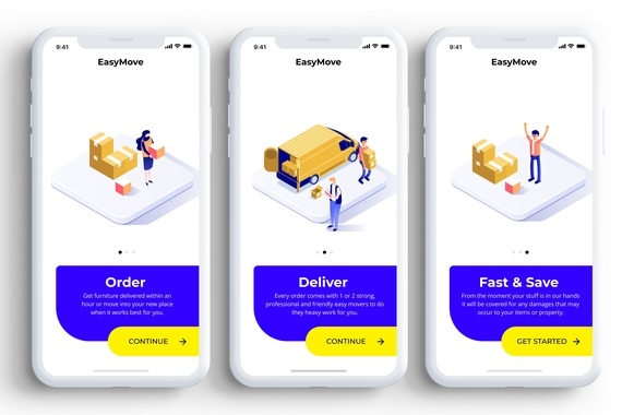 EasyMove - Mobile App Design