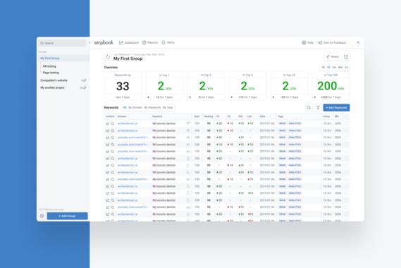 SerpBook | SEO Rank-tracking Tool