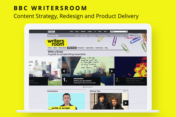 The BBC Writersroom Relaunch