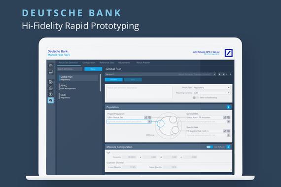 Deutsche Bank: Hi-fidelity Rapid Prototyping