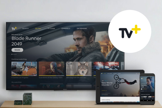 TV+ Web, Mobile and IPTV Design