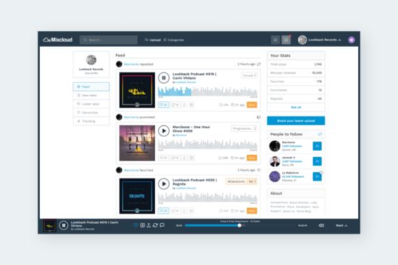 Mixcloud Redesign