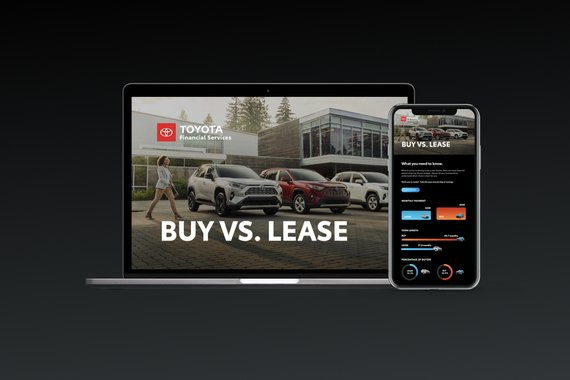 Toyota - Buy vs. Lease Microsite and Integrated Campaign