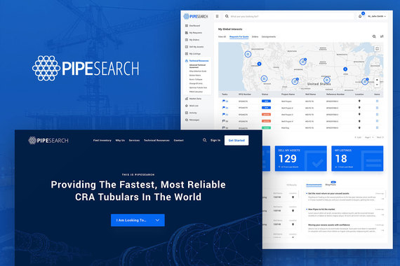 SaaS Application and Website - PipeSearch
