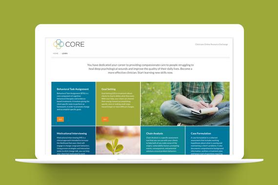 CORE Website, PTSD Training for non VA-Therapists