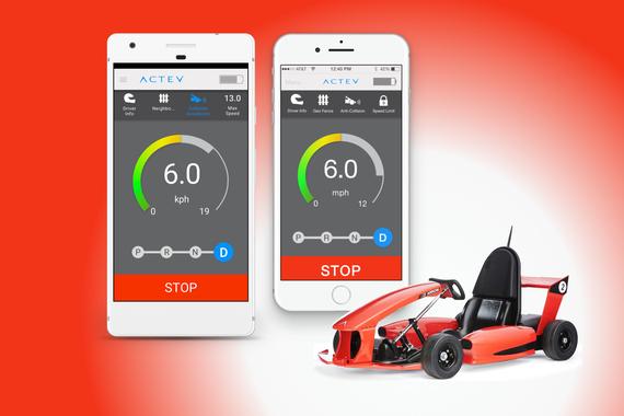 Actev App: Connecting App to Electric Go-Kart