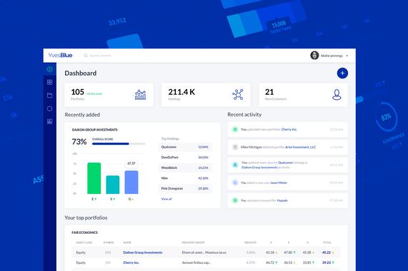 Yves Blue | Analytics Platform | Web App | Branding | Style Guide
