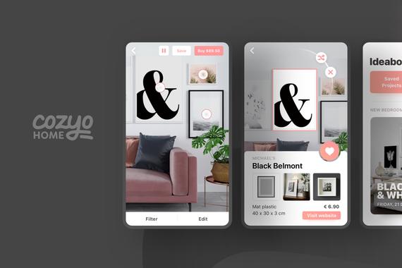 Cozyo AR|Startup Branding and UX/UI Design