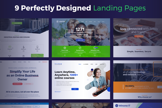 Nine Perfectly Designed Landing Pages