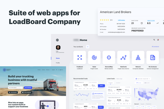 Suite of Web Apps for LoadBoard Company
