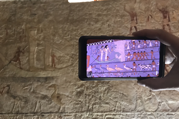 Visualizing the Great Pyramids of Giza in Augmented Reality