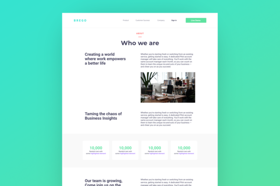 Brego - Financial Website