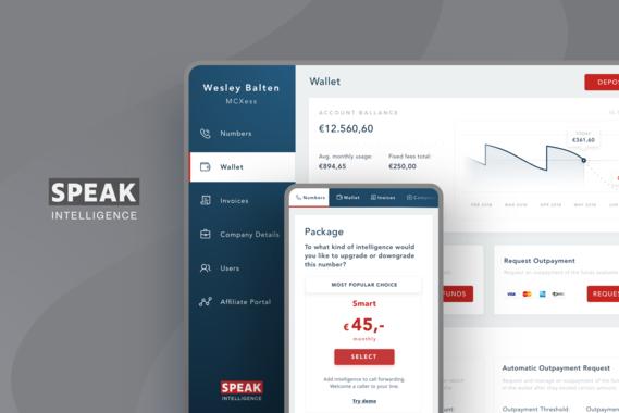 Speak Intelligence|Dashboard UX/UI Design