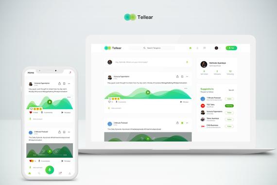 Audio Social Media - Mobile and Web App