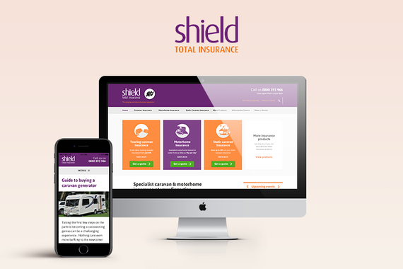 Responsive Web Design for Shield Total Insurance