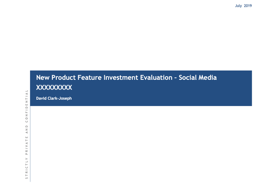 New Product Feature Investment Operating Model