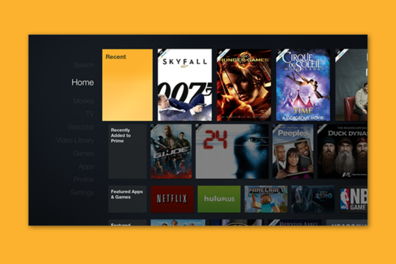 Amazon Fire TV Home Experience