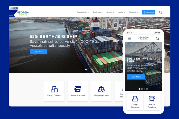 A New Digital Experience for the Georgia Ports