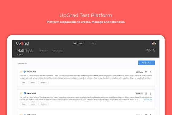 UpGrad Test Platform
