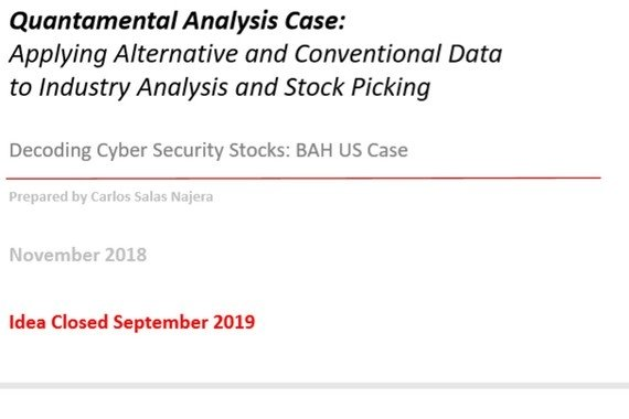 Quantamental Analysis Case: Applying Alternative and Conventional Data to Industry Analysis and Stock Picking