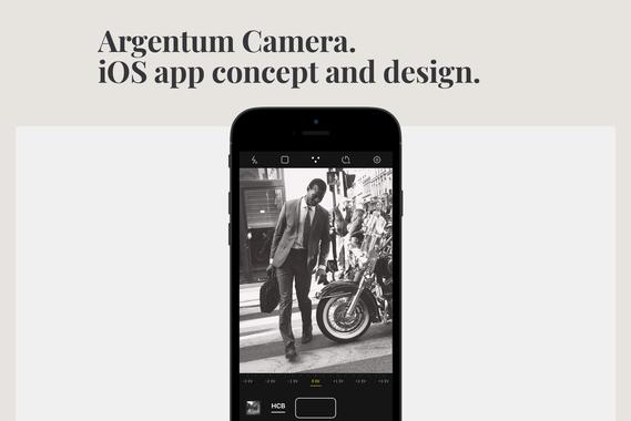 Argentum Camera. iOS App Concept and Design.