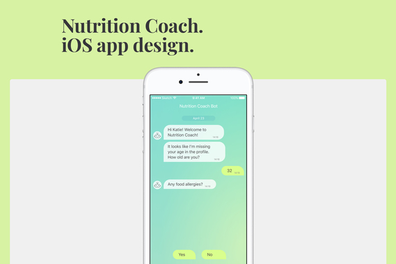 Nutrition Coach. iOS App Design.