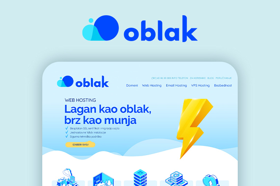 Oblak.host Branding and Web Design