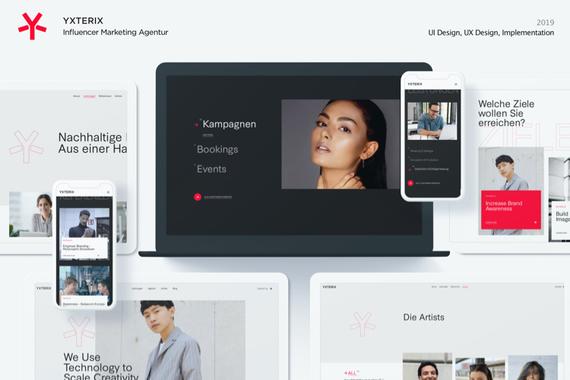 Yxterix | Influencer Marketing Agency Website