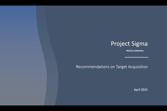 Project Sigma - Hospital Acquisition