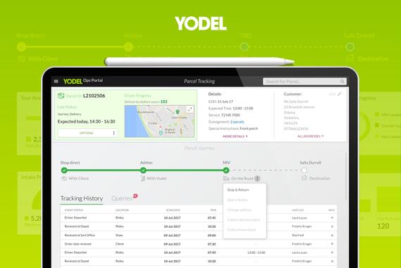 UX/UI for Yodels Enterprise Delivery Application