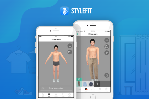 UX/UI For a Virtual Changing Room and Shopping App