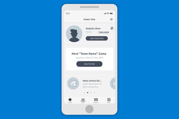 MLB Softball 60 | UX App Design